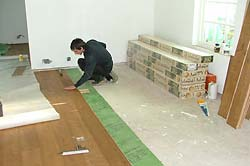 Fitting a wooden floor